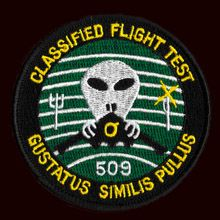 """This is a fed. issued patch. The technology released publicly is obsolete. There is & has been space militarization. My guess would be more military than authentic. Be wary of the PLANNED """"EVENT"""". (Project Blue Beam - used in conjunction with HAARP-CHEMTRAILS/Holographic Technology/Military craft-ie: triangles)"""