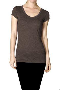 Heathered Short Sleeve V-Neck T-Shirt