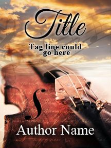 Romantic Violin - Musical - Customizable Book Cover  SelfPubBookCovers: One-of-a-kind premade book covers where Authors can instantly customize and download their covers, and where Artists can post a cover and name their own price.