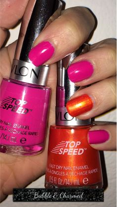 #PowerOrColor Revlon nail polish in Bubble & Charmed #nails