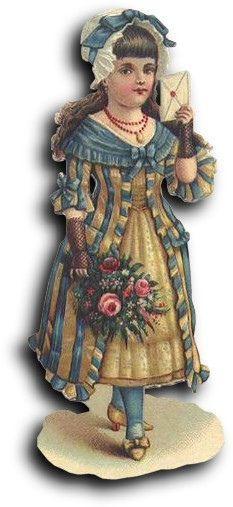 Victorian scrap: Girl