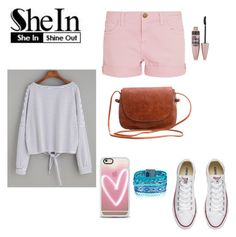 """""""SheIn"""" by kenzie4ever11 on Polyvore featuring Casetify, Current/Elliott, Converse and Maybelline"""