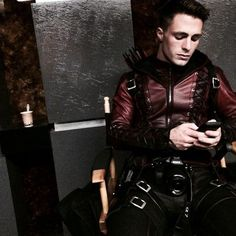 Shared by Danny. Find images and videos about sexy, arrow and colton haynes on We Heart It - the app to get lost in what you love. Arrow Roy Harper, Arrow Season 3, Colton Haynes, Supergirl And Flash, Marvel Dc Comics, Hot Guys, Leather Pants, Wonder Woman, Punk