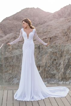 """Christina"" wedding dress by Julie Vino."