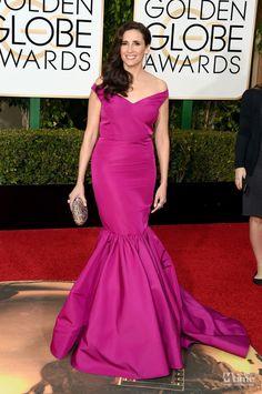 2016 Golden Globe Award MichaelaWatkins Red Carpet Celebrity Dresses Elegant Sexy Long Mermaid Evening Gowns