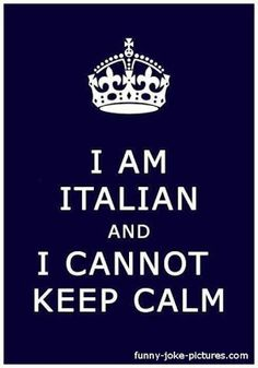 Funny Italian Keep Calm Picture