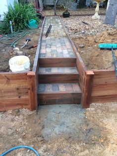 DIY timber retaining...