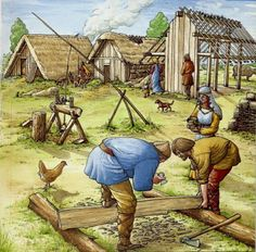 By the 8th century the Germanic anlgo saxons had full control over england making small petty that fought endless with one other by use the fryd system a system in which men were leved and sent to war