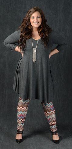 Chevron Aztec Print Leggings - Curvy Plus Size Boutique - 1 #plussizeoutfits #PlusSizeDresses