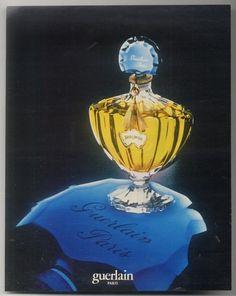 Image Detail for - ... Guerlain Shalimar perfume classic bottle photo vintage print ad | eBay