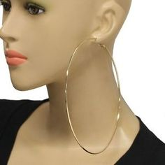 14cm Extra Large Gold Hoop Earrings