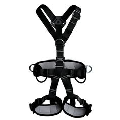 "Full Body Adult Safety Harness Outdoor Rock Climbing Momentum Harness for Mountaineering Outward Band Expanding Trainin Caving Rock Climbing Rappelling Equip Black. Will fit: Waist 27.5""(70cm) to 47.2""(120cm); Leg 20.4""(52cm) to 27.5""(70cm). One size fit all.Weight limited:2200KG. High quality standards ensure your safety.CE1282 Certified.Safety first. Light-weight and secure full body harness, Easy adjustment. Traditional buckle, harness construction distributes pressure to keep you..."