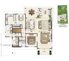 Santa Monica, Ground Floor Plan, Floor Plans, How To Plan, Architecture, Houses, 3d, Design, Duplex House