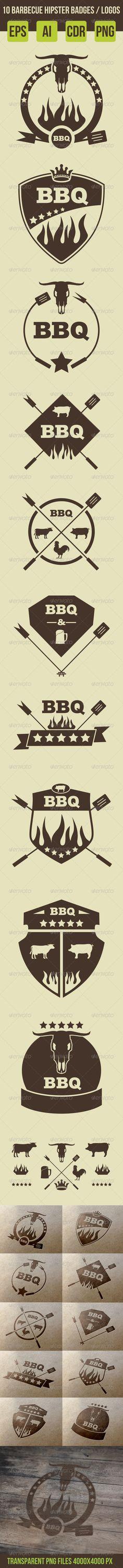 10 Barbeque Hipster Vector Emblems Vol.2  For download - http://graphicriver.net/item/10-barbeque-hipster-vector-emblems-vol2-/8063661?WT.ac=portfolioWT.z_author=ragerabbit