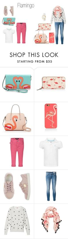 """""""Flamingo"""" by lalalou63 ❤ liked on Polyvore featuring Kate Spade, DKNY, Ralph Lauren, Dolce&Gabbana, rag & bone/JEAN, Lacoste and katespade"""
