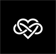 Infinity heart This very simple and linear tattoo joins the symbol of infinity to a stylized heart, symbolizing thus an eternal love that goes beyond time. Description from pinterest.com. I searched for this on bing.com/images