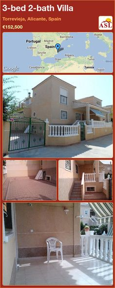 3-bed 2-bath Villa in Torrevieja, Alicante, Spain ►€152,500 #PropertyForSaleInSpain