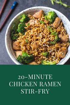 Brocolli Recipes, Zuchinni Recipes, Avocado Recipes, Veggie Recipes, Healthy Dinner Recipes, Ramen Recipes, Noodle Recipes, Chicken Ramen Recipe, Easy Chicken Recipes