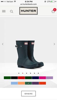 Womens Short Hunter Rain Boots