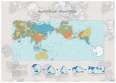 AuthaGraph World Map. A new world map reengineered to represent the true relative sizes of continents & seas. The Winner of 2016 GOOD DESIGN GRAND AWARD in Japan Accurate World Map, New World Map, Continents And Oceans, Institute Of Design, Map Globe, What The World, Us Map, Map Design, Graphic Design
