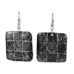 Recycled Pan African Motif Earrings