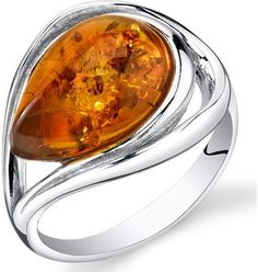 8fac82df488e Ice Amber Polished Sterling Silver Fashion Ring crystal affiliate womens  fashion
