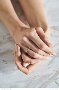 Simplistic engagement rings with natural lines and occasional gemstones   Photography: Gareth Hubbard   Styling: Amy Keevy   Model: Nikita Stallbom  