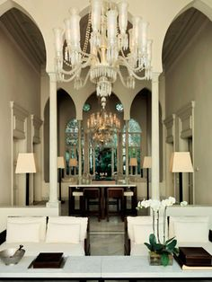 Traditional architecture preserved in Elie Saab's home.