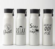 【メッセージボトル】 ポジティブなメッセージが心を励ますステンレスボトル。保温保冷効力も抜群です。
