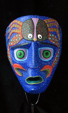 Mexican Masks -  Blue Moon mask from Oaxaca, Mexico