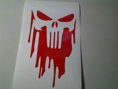 punisher sticker window decal skull vinyl car marvel comics trucks bows guns car