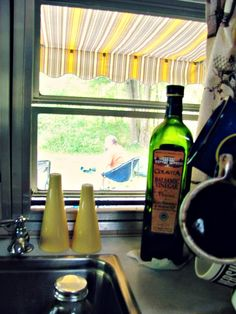 from the kitchen of our 1966 Winnebago travel trailer