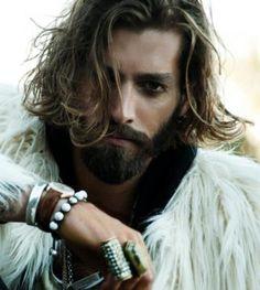 Maximiliano Patane - beard, fur, adornments, hair