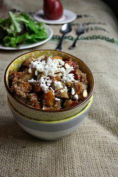 Winter Quinoa Salad with Pear and Squash http://scarboroughfoodfair.blogspot.com/2013/01/winter-quinoa-salad-with-pear-and-squash.html#