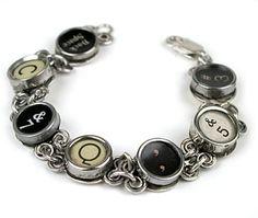 Type writer jewelry!