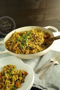 No need for take-out! Healthy 30 min Vegetable Indian Pulao (vegan, gluten-free)
