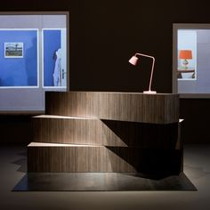Cool inspiration for a reception desk - Tools for Life by OMA for Knoll