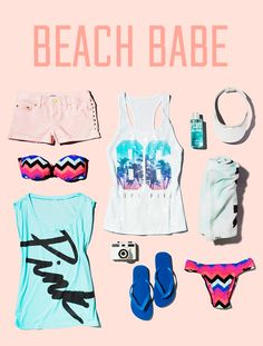 I'm a total #VSPINK Beach Babe!
