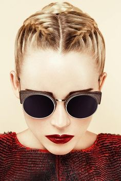 sunglasses hairstyles red lipstick blonde hair hair/makeup inspo texture