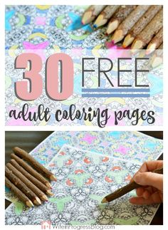 Adult Coloring Pages are the hot trend! Get 30 FREE downloadable coloring pages to satisfy your coloring needs!