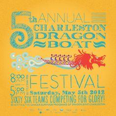 Charleston Dragon Boat Festival poster 2012