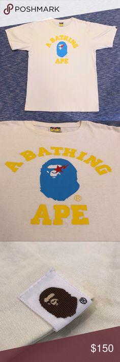 32ff981f BAPE logo T-Shirt A Bathing Ape / BAPE T-shirt cream / bone white ground.  clean graphic, clean labels and details good condition Bape Shirts Tees -  Short ...