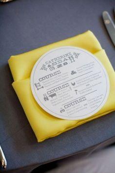Los 50 menús impresos más originales para la celebración de tu boda. ¡Te costará decidirte por uno! Image: 44