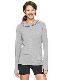 GapFit Breathe long-sleeve hoodie.  Perfect for fall outdoor activities or working out!