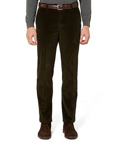 Green Pants (Milano Fit Eight-Wale Corduroy Pants, Brooks Brothers)