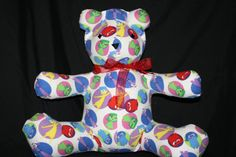 White Inside Out Share-A-Bear by NinasShareABear on Etsy Scary Kids, Very Scary, Backrest Pillow, Inside Out, Dinosaur Stuffed Animal, Bear, Pillows, Children, Handmade Gifts