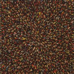 Bird Blast  Fred Tomaselli (American, born 1956)    1997. Pills, leaves, collage, synthetic polymer paint, and resin on wood panel, 60 x 60""
