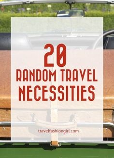 Hope you liked this post on 25 random travel necessities. Please share it with your friends on Facebook, Twitter, or Pinterest. Thanks for reading!