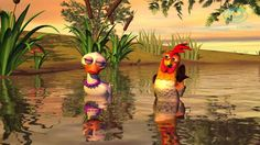 Pop-style song with great vocab for Spanish 2-3!  Cute patos and gallos for li'l ones!