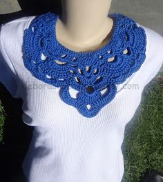Maxi colar Ibiza- Beautiful Neck Collar Free Diagram Pattern